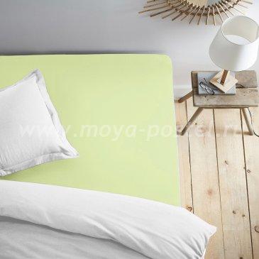 Простыня на резинке салатовая (120х200) в интернет-магазине Моя постель