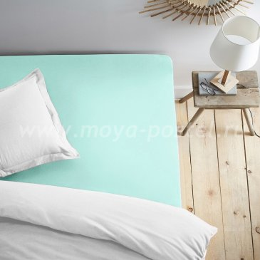 Простыня на резинке мятная (120х200) в интернет-магазине Моя постель