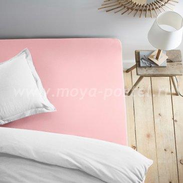Простыня на резинке розовая (140х200) в интернет-магазине Моя постель