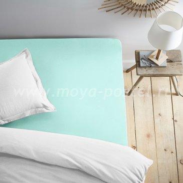 Простыня на резинке ментолвая (140х200) в интернет-магазине Моя постель