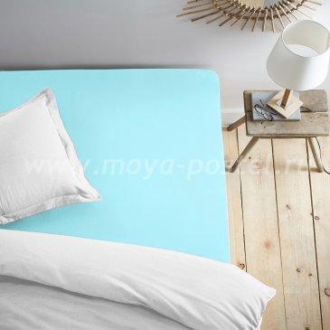 Простыня на резинке бирюзовая (140х200) в интернет-магазине Моя постель