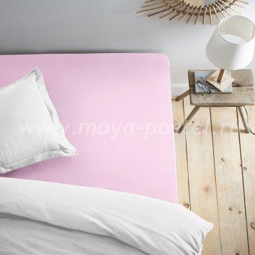 Простыня на резинке фиолетовая (180х200) в интернет-магазине Моя постель