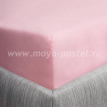 Простыня на резинке розовая (120х200), сатин в интернет-магазине Моя постель