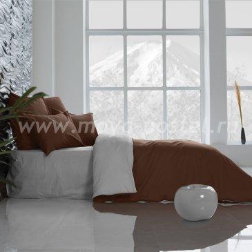 Постельное белье Perfection Цвет: Темный Шоколад + Туманная Гавань (2 спальное) в интернет-магазине Моя постель