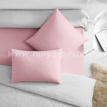 Розовая наволочка (50х70 - 2 шт.), сатин - каталог постельного белья в интернет-магазине Моя постель