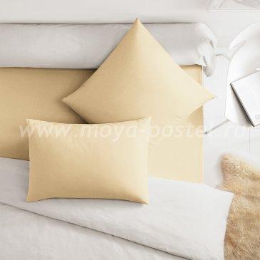 Бежевая наволочка (70х70 - 2 шт.), сатин - каталог постельного белья в интернет-магазине Моя постель