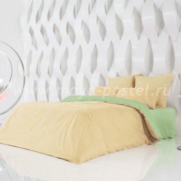 Постельное белье Perfection: Солнечный Абрикос + Лайм Благородный (евро) в интернет-магазине Моя постель