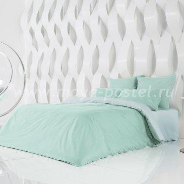 Постельное белье Perfection: Перечная Мята + Небесно Голубой (евро) в интернет-магазине Моя постель