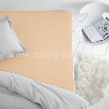 Простыня на резинке персиковая (160х200), махра в интернет-магазине Моя постель
