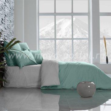 Постельное белье Perfection: Перечная Мята + Туманная Гавань (евро) в интернет-магазине Моя постель