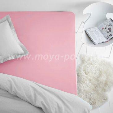 Простыня на резинке розовая (160х200), махра в интернет-магазине Моя постель