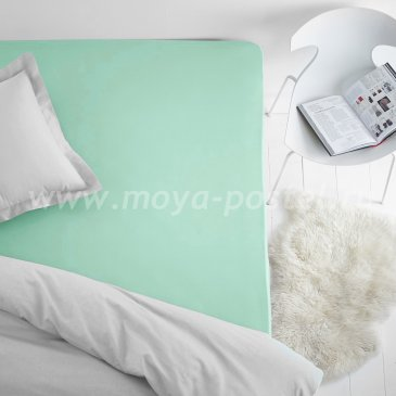 Простыня на резинке светло-зеленая (180х200), махра в интернет-магазине Моя постель