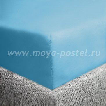Простыня на резинке бирюза (90х200), сатин в интернет-магазине Моя постель