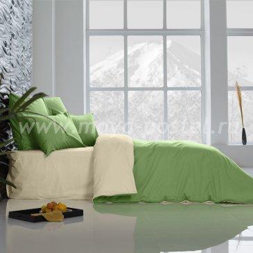 Постельное белье Perfection Цвет: Ветка Ванили + Лайм Благородный (2 сп. евро) в интернет-магазине Моя постель