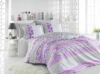 Серое постельное белье «SCARLET» из поплина, евро размер в интернет-магазине Моя постель