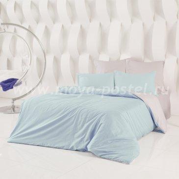 Постельное белье Perfection: Туманная Гавань + Небесно Голубой (евро) в интернет-магазине Моя постель