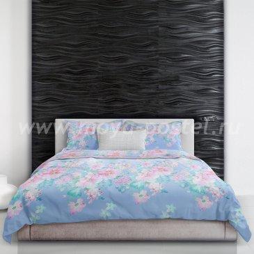 Постельное белье «At Fujiyama» (У подножья Фудзиямы) голубого цвета, евро макси в интернет-магазине Моя постель