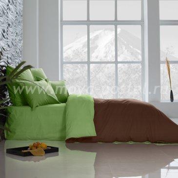 Постельное белье Perfection: Темный Шоколад + Лайм Благородный (евро) в интернет-магазине Моя постель