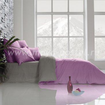 Постельное белье Perfection: Темно-Серый + Розовая Лаванда (евро) в интернет-магазине Моя постель