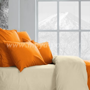 Постельное белье Perfection Цвет: Огонь + Ветка Ванили (семейное) в интернет-магазине Моя постель