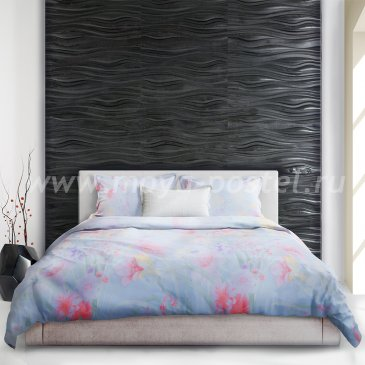 Голубое постельное белье «Meissen» (Мейсен) евро макси в интернет-магазине Моя постель