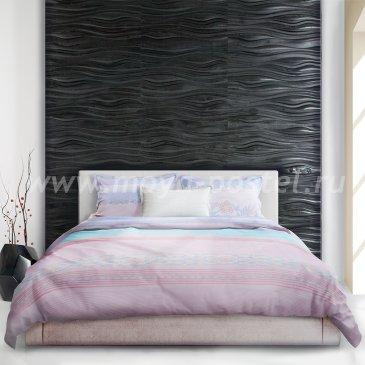 Лиловое постельное белье «Ayanami» (Узор волны), евро макси в интернет-магазине Моя постель