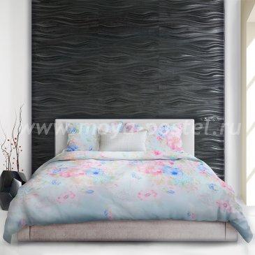 Постельное белье «Hikari» (Лучи солнца) евро макси, голубое в интернет-магазине Моя постель