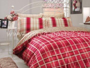 Двуспальное постельное белье «SUELITA», красное, поплин в интернет-магазине Моя постель
