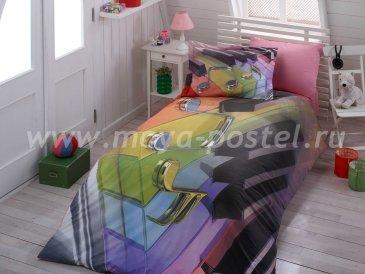 Постельное белье «MELODY» радужное, поплин, полутороспальное в интернет-магазине Моя постель