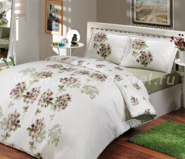 Постельное белье цвета хаки «VIYELLA», ранфорс, полутороспальное в интернет-магазине Моя постель