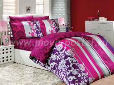 Евро постельное белье «ORIENTAL», сатин, цвет фуксия в интернет-магазине Моя постель