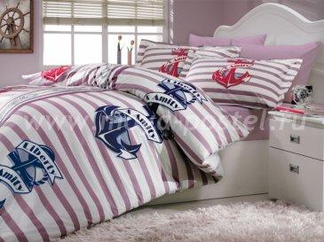 Лиловое постельное белье «BERMUDA» двуспальное, поплин в интернет-магазине Моя постель