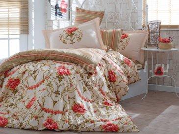 Постельное белье «ORNELLA» золотого цвета, семейное, поплин в интернет-магазине Моя постель