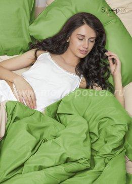 Постельное белье Perfection: Зелень + Молочный (2 спальный) в интернет-магазине Моя постель