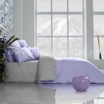 Постельное белье Perfection: Туманная Гавань + Лавандовый (евро) в интернет-магазине Моя постель