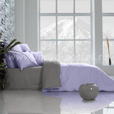 Постельное белье «Perfection», Лавандовый + Темно-Серый (евро) в интернет-магазине Моя постель