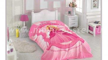 """Покрывало жаккард велсофт 1,5 сп. """"PRENSES"""", розовый, 100% Полиэстер - интернет-магазин Моя постель"""
