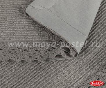 """Набор 1,5 сп. (Евро) поплин из покрывала и наволочек """"NATUREL"""", серый, 100%Хлопок - интернет-магазин Моя постель"""