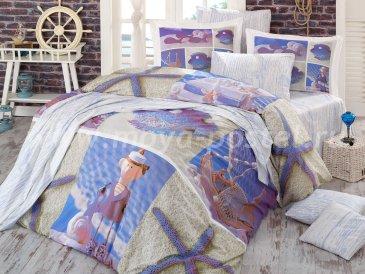 Евро постельное белье «OCEAN» с 3D принтом, поплин в интернет-магазине Моя постель
