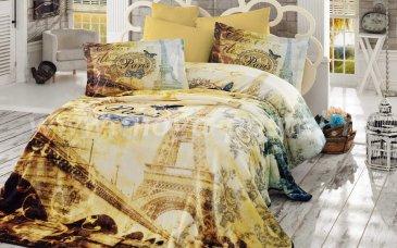 Евро постельное белье «VIVALDI» с 3D-изображением, поплин, золотое в интернет-магазине Моя постель