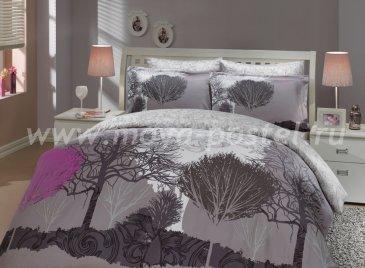 Семейное постельное белье серого цвета «INFINITY», сатин в интернет-магазине Моя постель