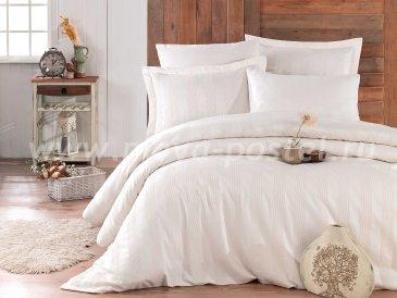 Семейное постельное белье «VALERIAN» кремового цвета, сатин в интернет-магазине Моя постель