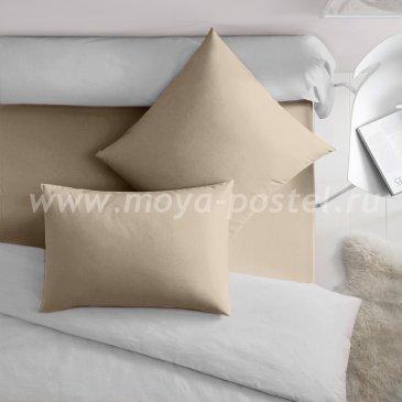 Темно-бежевая наволочка (50х70 - 2 шт.), сатин - каталог постельного белья в интернет-магазине Моя постель