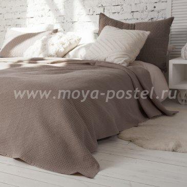 Покрывало Ribbed dakke Цвет: Коричневый (200х220 см) - интернет-магазин Моя постель