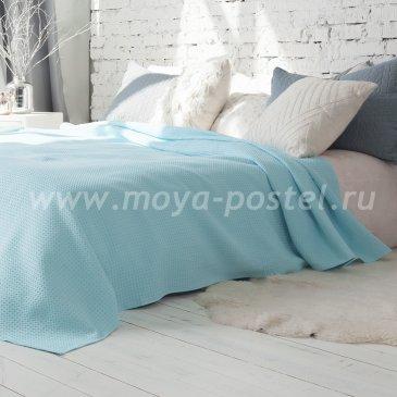 Покрывало Ribbed dakke Цвет: Лазуревый (200х220 см) - интернет-магазин Моя постель