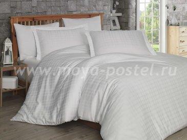 Белое постельное белье евро размера «EKOSE», сатин-жаккард в интернет-магазине Моя постель