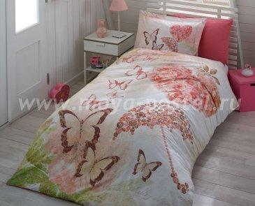 Постельное белье из поплина «SWEET DREAMS» с бабочками, евро в интернет-магазине Моя постель