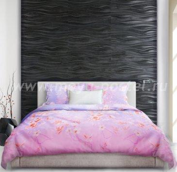 Лилово-розовое постельное белье с градиентом «Misaki» (Расцвет красоты), евро макси в интернет-магазине Моя постель