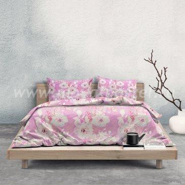 Розовое двуспальное постельное белье «Bonsai» (Бонсай) в интернет-магазине Моя постель
