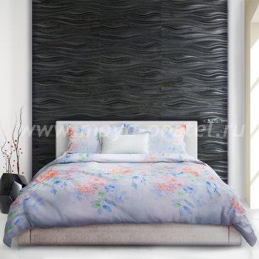 Постельное белье «Yukata» (Юката) голубого цвета, евро макси в интернет-магазине Моя постель